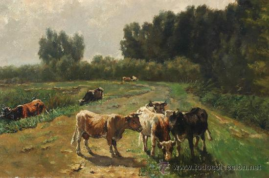 Arte: WILLEM MARIS, COWS IN A LANDSCAPE , OIL ON CANVAS - Foto 2 - 34275492