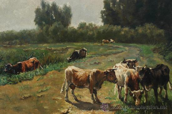 Arte: WILLEM MARIS, COWS IN A LANDSCAPE , OIL ON CANVAS - Foto 3 - 34275492