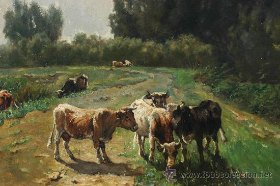 Arte: WILLEM MARIS, COWS IN A LANDSCAPE , OIL ON CANVAS - Foto 4 - 34275492