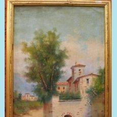 Arte: JARDINES, JOSE MARIA.(CADIZ 1862).- SIGLO XIX, PAISAJE ANDALUZ. OLEO SOBRE LIENZO. FIRMADO.. Lote 35177343