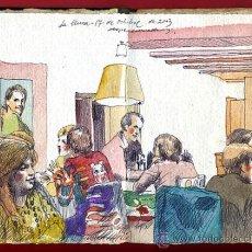 Arte: ALEGRE CREMADES , CUADERNILLO CON 3 DIBUJOS ORIGINALES , VER FOTOS ,LEER DESCRIPCION. Lote 34317284
