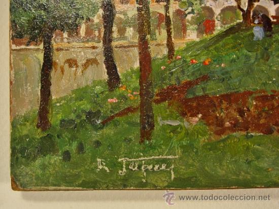 Arte: PAISAJE. ÓLEO/CARTÓN. RAFFAELE TAFURI (1857-1929). - Foto 2 - 34321368