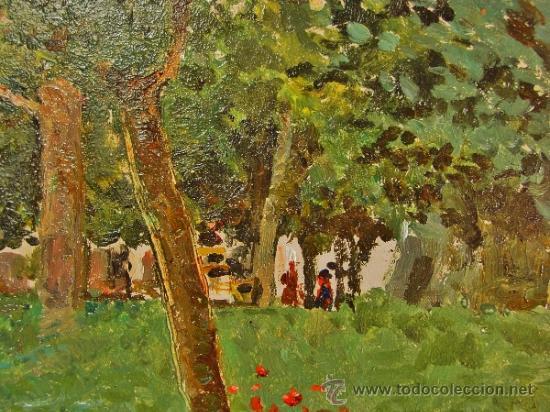 Arte: PAISAJE. ÓLEO/CARTÓN. RAFFAELE TAFURI (1857-1929). - Foto 3 - 34321368