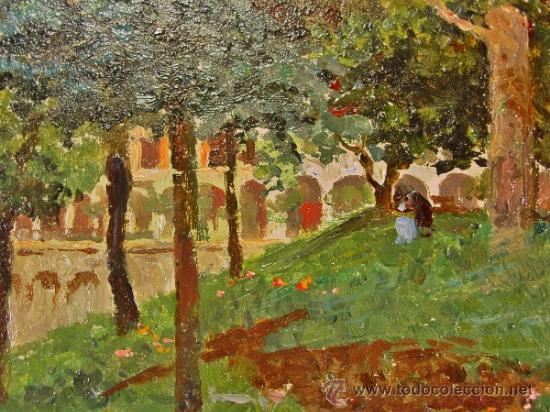 Arte: PAISAJE. ÓLEO/CARTÓN. RAFFAELE TAFURI (1857-1929). - Foto 4 - 34321368