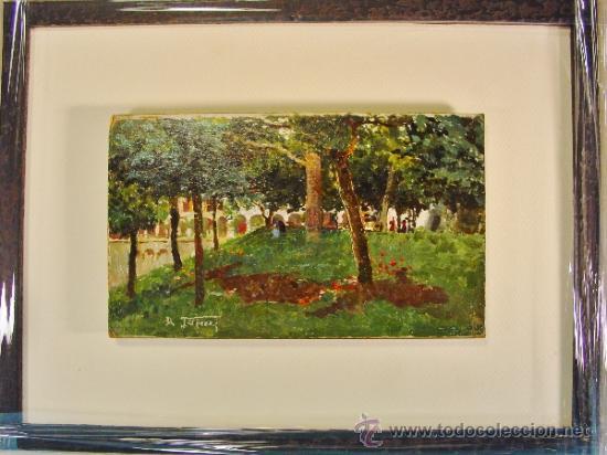 Arte: PAISAJE. ÓLEO/CARTÓN. RAFFAELE TAFURI (1857-1929). - Foto 5 - 34321368