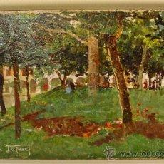 Arte: PAISAJE. ÓLEO/CARTÓN. RAFFAELE TAFURI (1857-1929).. Lote 34321368