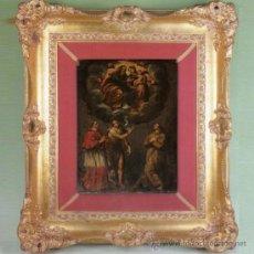 Arte: TIZIANO VECELLIO, 1485-1576. (TALLER). OLEO SOBRE ALABASTRO. MEDIDAS 47 X 35,5 CMS. MARCO DE LUJO.. Lote 34372064
