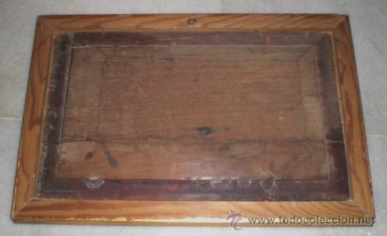 Arte: Oleo sobre Tabla de Caoba, Marina, S.XIX - Foto 2 - 34410412