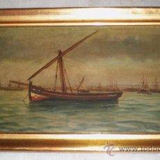 Arte: OLEO SOBRE TABLA. MARINA. S.XIX.. Lote 34410538