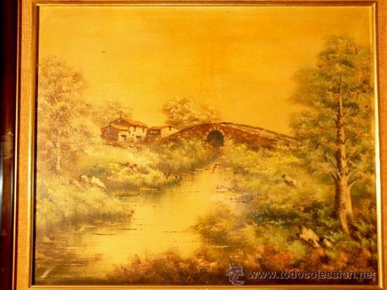 Arte: oleo sobre tela.Firmado Molina.Paisaje - Foto 2 - 34447165