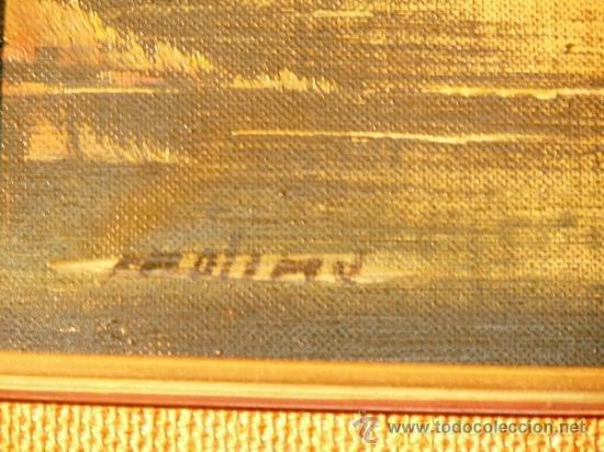 Arte: oleo sobre tela.Firmado Molina.Paisaje - Foto 8 - 34447165