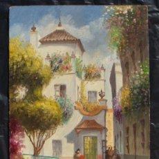 Arte: SEVILLA - BARRIO DE SANTA CRUZ - ORIGINAL 1950'S. Lote 34450548