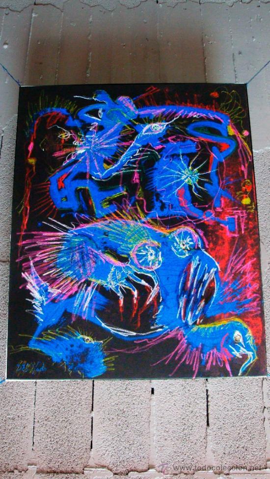 """PINTOR """"DEL VADO"""" PESADILLA NOCTURNA (Arte - Pintura Directa del Autor)"""