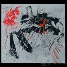 """Arte: NAVE ATACANDO AL ADN """"DEL VADO"""" RECONOCIDO PINTOR . Lote 34504778"""