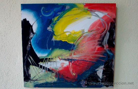 """EXPLOSION LUMINICA PINTURA DEL RECONOCIDO PINTOR """"DEL VADO"""" (Arte - Pintura Directa del Autor)"""