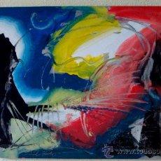 """Arte: EXPLOSION LUMINICA PINTURA DEL RECONOCIDO PINTOR """"DEL VADO"""". Lote 34504829"""
