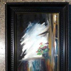 Arte: OLEO SOBRE TABLA.FIRMADO COMEZ. DEDICADO,A MI AMIGO RAFAEL.. Lote 34550989