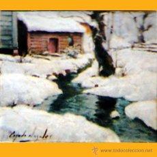 Arte: CEJUDO NOGALES, RICARDO.(PUERTOLLANO 1952) OLEO S/ TABLA. TECNICA REALISTA. FDO. 27X 33 CM ENMARCADO. Lote 34549613