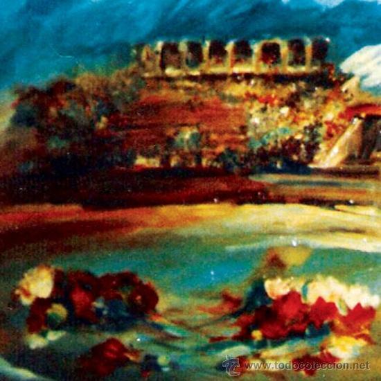 Arte: DE SANTIAGO, ROSENDO.- (C. REAL 1936-2013) -PLAZA Y CLAVELES- OLEO SOBRE LIENZO. FDO. 66 X 82 CM - Foto 2 - 34549857