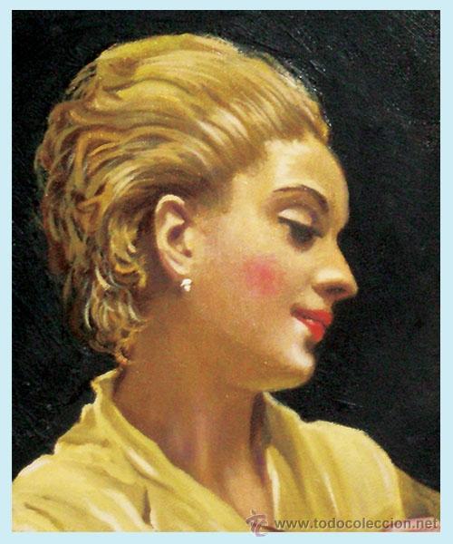 Arte: MADRAZO, FEDERICO.- REPLICA AL OLEO SOBRE LIENZO POR F.G. MANTILLA, FDO. 105 X 75 CM. ENMARCADO LUJO - Foto 2 - 34550061