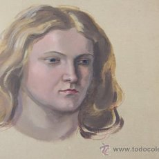 Arte: OLEO DEL ARTISTA CHECO JOSEF RUDOLF - ARTISTA REFERENCIADO - RETRATO. Lote 34551654