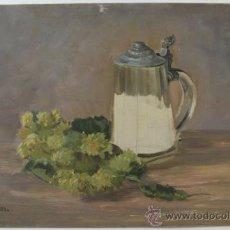 Arte: OLEO DEL ARTISTA CHECO JOSEF RUDOLF - ARTISTA REFERENCIADO - BODEGON. Lote 34551690