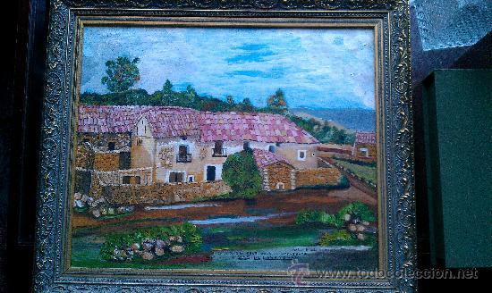 PINTURA AL OLEO MAS DE CASANOVA EL FORCALL CASTELLÓN POR CASANOVA I GINER (Arte - Pintura - Pintura al Óleo Contemporánea )