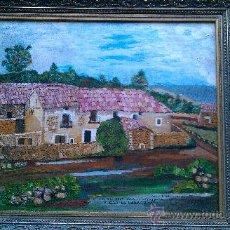 Arte: PINTURA AL OLEO MAS DE CASANOVA EL FORCALL CASTELLÓN POR CASANOVA I GINER. Lote 34590015