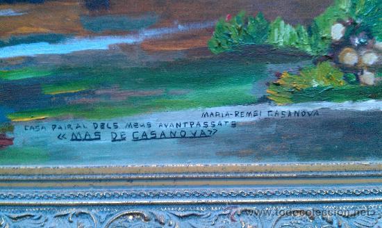 Arte: PINTURA AL OLEO MAS DE CASANOVA EL FORCALL CASTELLÓN POR CASANOVA I GINER - Foto 2 - 34590015