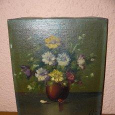 Arte: OLEO /TELA - FIRMADO SOLÁ - JARRÓN CON FLORES.. Lote 34644683