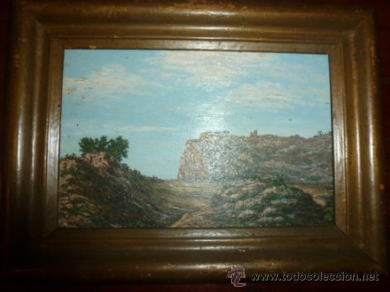 PINTURA SOBRE TABLA OLEO ESCUELA MALLORQUINA (Arte - Pintura - Pintura al Óleo Antigua sin fecha definida)
