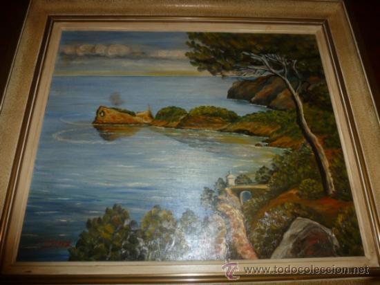 OLEO SOBRE LIENZO PAISAJE MALLORCA SA FORADADA (Arte - Pintura - Pintura al Óleo Antigua sin fecha definida)
