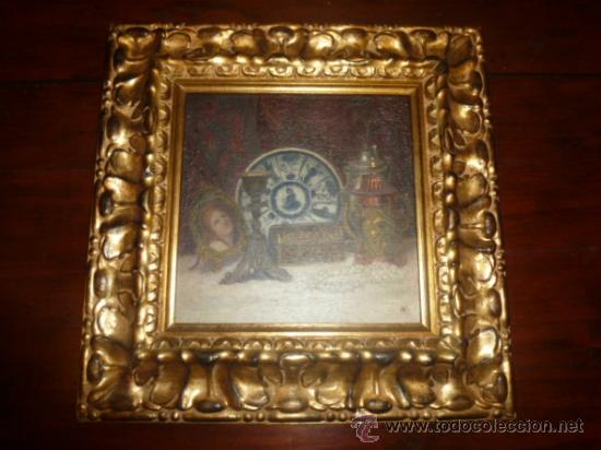 BODEGON OLEO SOBRE LIENZO FIRMADO VER FOTO (Arte - Pintura - Pintura al Óleo Antigua sin fecha definida)