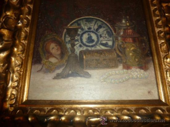 Arte: bodegon oleo sobre lienzo firmado ver foto - Foto 2 - 34645816