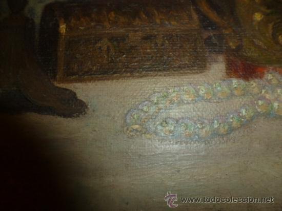 Arte: bodegon oleo sobre lienzo firmado ver foto - Foto 8 - 34645816
