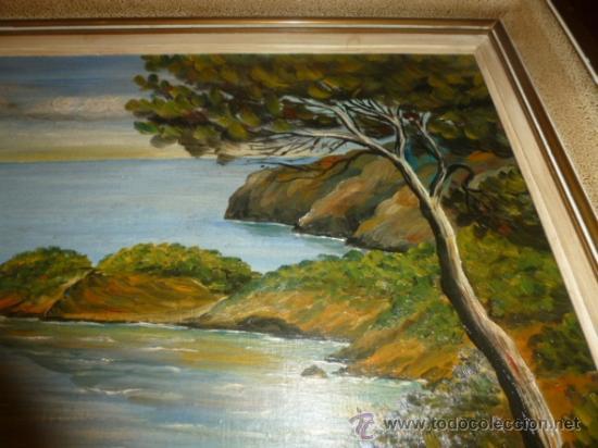 Arte: oleo sobre lienzo paisaje mallorca sa foradada - Foto 5 - 34645335