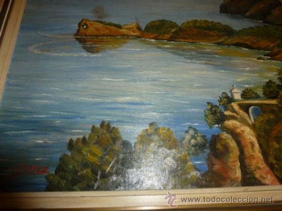 Arte: oleo sobre lienzo paisaje mallorca sa foradada - Foto 7 - 34645335