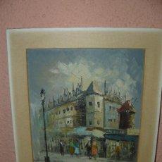 Arte: OLEO / TABLEX - ANÓNIMO - VISTA PARISINA. Lote 34673642