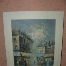 Arte: OLEO / TABLEX - ANÓNIMO - VISTA PARISINA. Lote 34673710