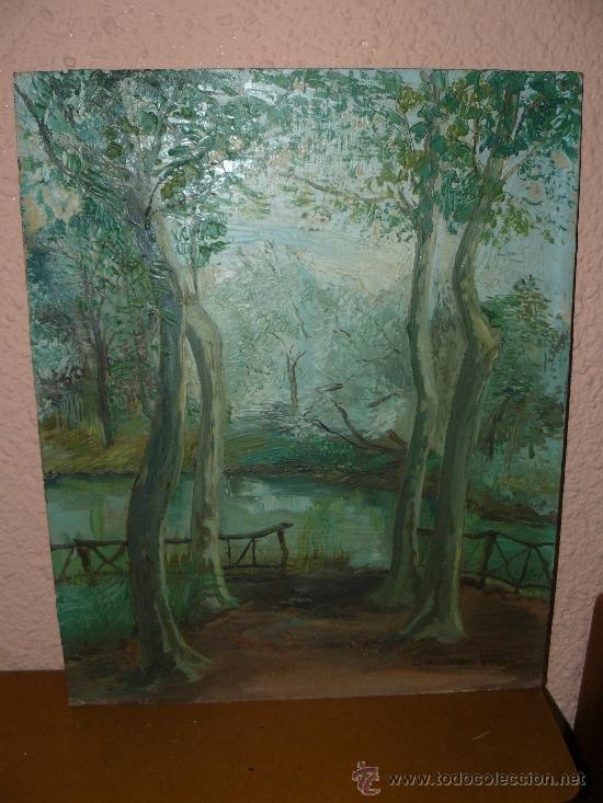 OLEO / CARTÓN - FIRMADO CARMEN VIVES - PAISAJE (Arte - Pintura - Pintura al Óleo Contemporánea )