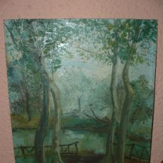 Arte: OLEO / CARTÓN - FIRMADO CARMEN VIVES - PAISAJE. Lote 34675248