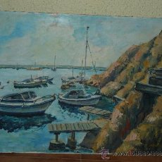 Arte: OLEO / TABLEX - FIRMADO F CAPARRÓS - MARINA. Lote 34720607