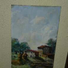 Arte: OLEO / TABLEX - FIRMADO RIBERA - PAISAJE. Lote 34754258