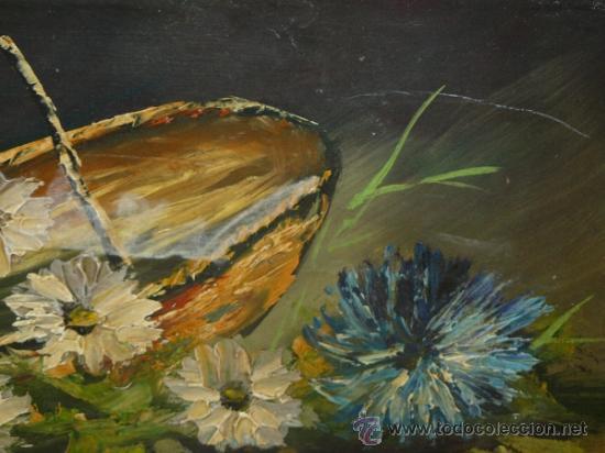 Arte: OLEO / TABLEX - FIRMADO SIMÓ - CESTO CON FLORES - Foto 3 - 34753376