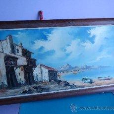 Arte: ANTIGUO Y PRECIOSO CUADRO DE OLEO SOBRE LIENZO, NO COPIA NI IMPRESION, EN . Lote 34818169