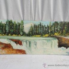 Arte: ÓLEO SOBRE TABLEX - PAISAJE -. CON FIRMA.. Lote 34851188