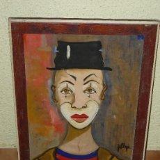Arte: OLEO / TABLEX - FIRMADO BLOJÉ - PAYASO. Lote 34937791