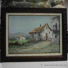 Arte: PRECIOSO CUADRO. OLEO SOBRE TABLA PAISAJE. FIRMA ILEGIBLE. Lote 34939162