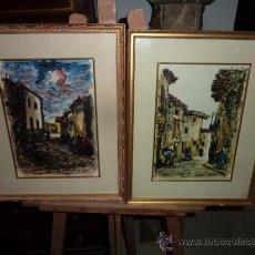 Arte: PAREJA DE CUADROS DE FERMIN SANTOS(1909-1997). Lote 34966429