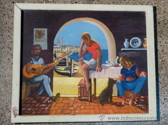 ÓLEO SOBRE TABLA.FIRMA ILEGIBLE.FIRMADO 68 (Arte - Pintura - Pintura al Óleo Contemporánea )